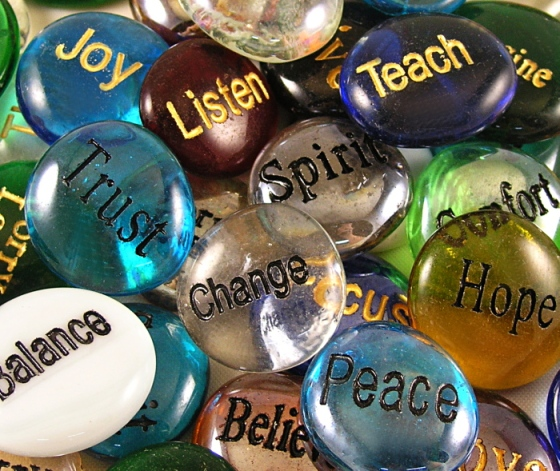 Inspirational Glass Stones