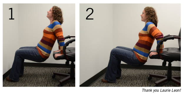 Tricep Dips at your Desk