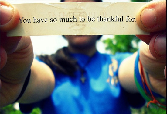 You Have So Much to be Thankful For