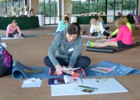iGnite members creating 'Dream Boards' at the New Year New You Retreat