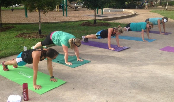 iGniters pushing the limits at Molly's Cross Training Class- Pease Park