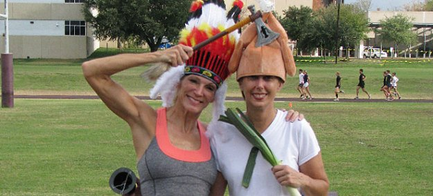 A Fun and Festive Thanksgiving Workout-Thanksgiving is the time to put all disagreements aside and make peace, just as the Indian and turkey did last year at Austin High Track.