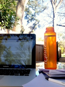 Since my exercise was inside today, I got my 30 mins of outdoor time by moving my office outside for the afternoon. I loved it!