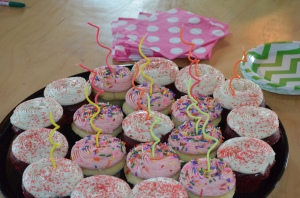 tempting birthday cupcakes!