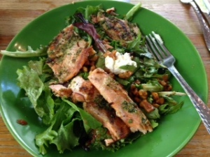 Delicious, filling and healthy ruby trout salad from Z Tejas