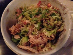Dinner: a yummy filling power bowl from Maudie's.