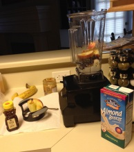 Making my breakfast smoothie