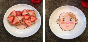 Snack time: before & after :)