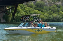 """""""I am thankful for my boat. It brings me so much joy! It also brings Brad and I so many fun date nights and afternoons together. Bonding friendships have started on the boat and are still blossoming. It is also a place of adventure! Trying new things on the water is exhilarating! Just gliding across the water on a ski, wake board or surf board makes my heart sing!! It is a family gathering place where everyone loves to meet for the day. Did you know if you are ON, IN or NEAR WATER you are 90% happier??!! It is true! I am so thankful for our beautiful Lake Austin!"""" -Kathleen"""