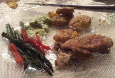 Butterflied Herb Chicken Breast, Crispy Mashed Potatoes with Avocado Garlic Aioli and roasted vegetables for dinner. Even my boys liked these recipes!