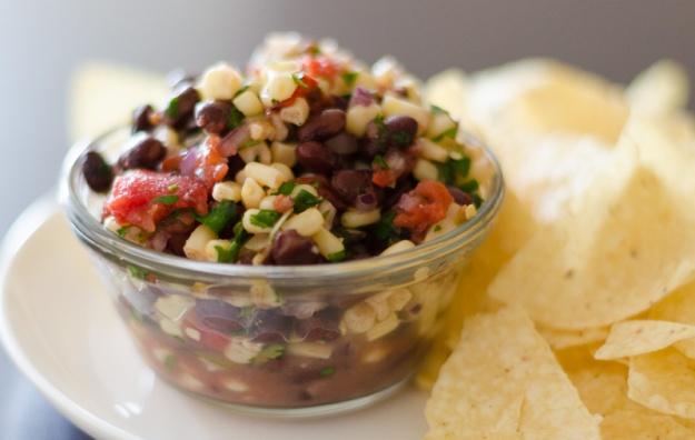 Healthy Corn & Black Bean Dip