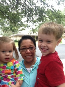With Malaine and Durant (Neissa Springmann's children), 2 of the children I look after now