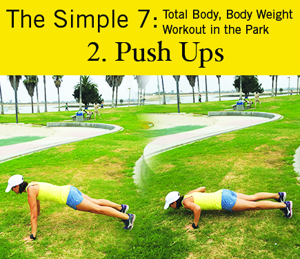 Push Ups: iGnite Simple 7 Park Workout