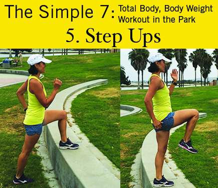 Step Ups: iGnite Simple 7 Park Workout