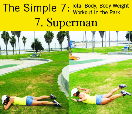 Superman Low Back Extensions: iGnite Simple 7 Park Workout
