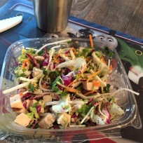 Lunch: a salad from Trader Joe's