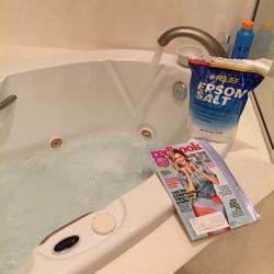 Ending the day with an Epsom salt bath