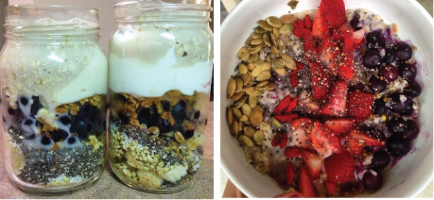 Examples of additional variations of the breakfast bowl Allison has enjoyed making