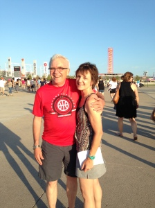 Ed and I at a Chicago concert
