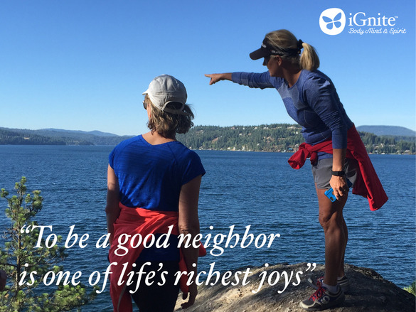 neighbor journal quote with pic