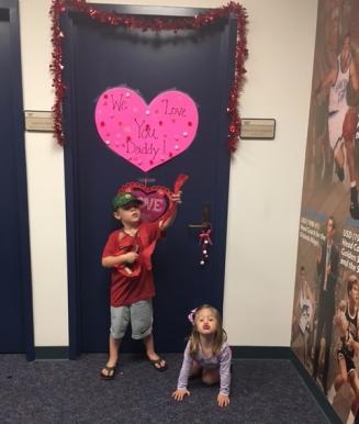 valentine's door pic
